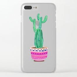 Cute Cactus Clear iPhone Case
