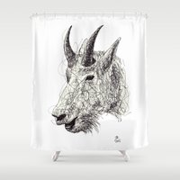 goat Shower Curtains featuring Goat by Ursula Rodgers