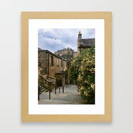 Castle Steps. Framed Art Print