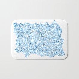 Terrain Geometry - Blue Bath Mat