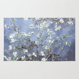 Vincent Van Gogh Almond Blossoms : Steel Blue & Gray Rug