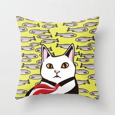 cat&fish Throw Pillow
