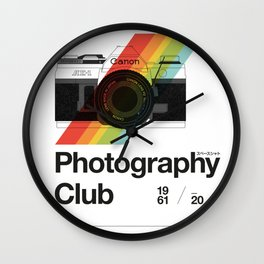 Photography Club Wall Clock