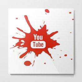 Youtube youtuber - best design or YouTube lover Metal Print