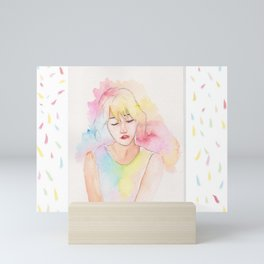 Pastel Dreams - Taeyeon Fanart Mini Art Print