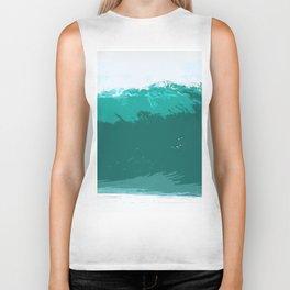 sea wave, ocean Biker Tank