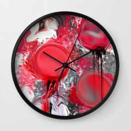 Spilled Paint Abstract Wall Clock