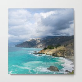 Parting Clouds in Big Sur Metal Print