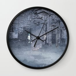 '跳下去的一秒 The Moment While Jumping off' Illustration 4 Wall Clock