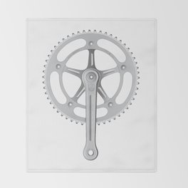 Campagnolo Track Chainset, 1974 Throw Blanket