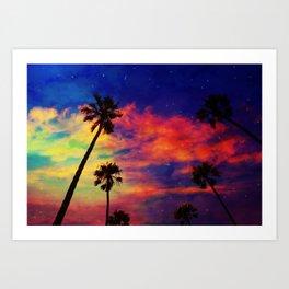 Unicorn clouds Art Print