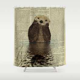 Otter in Love Shower Curtain