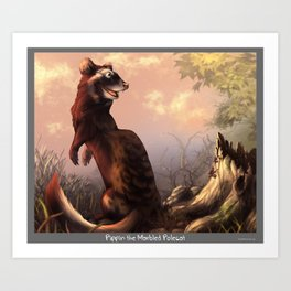 Pippin the Marbled Polecat! Art Print