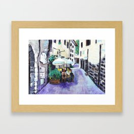 An Italian lunch Framed Art Print