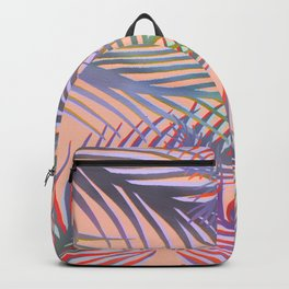Palm Leaves Pattern - Purple, Peach, Blue Backpack