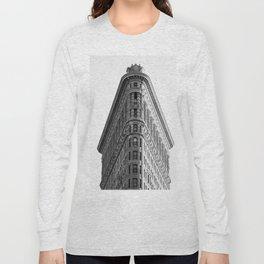 Flatiron Black and White NYC Long Sleeve T-shirt