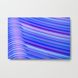 Purple Flow Metal Print