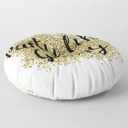 Party like Gatsby - golden jazz Floor Pillow