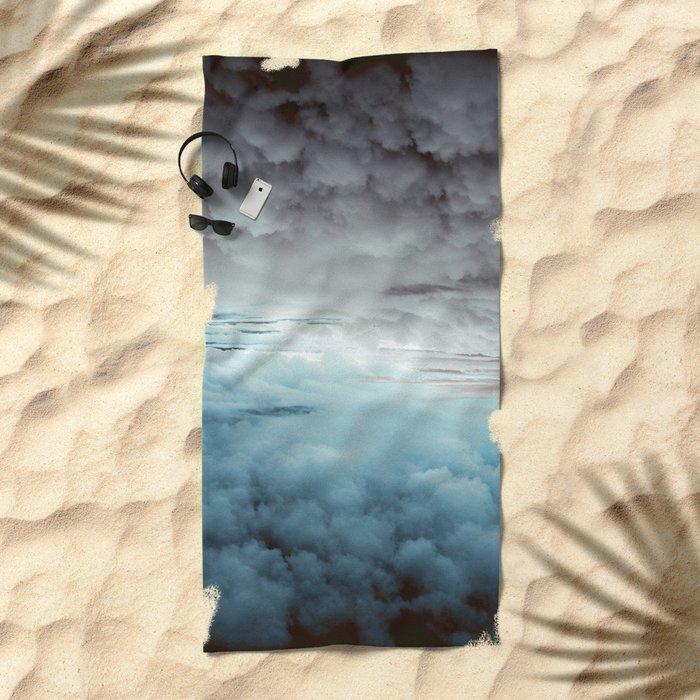 Glacier Painted Clouds Beach Towel