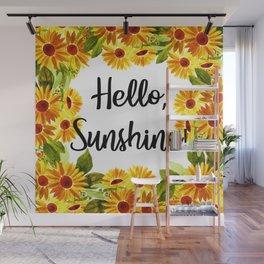 Hello, Sunshine! by czerinaartstudio Wall Mural