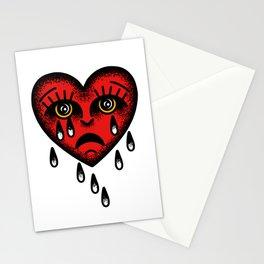 Traditional Sadboy heart Stationery Cards