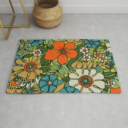 70s Plate Rug