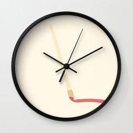 #42 Paintbrush Wall Clock