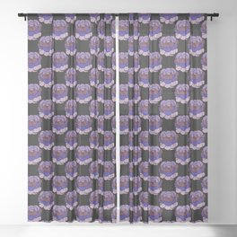 Trippy Cabbage Patch Sheer Curtain
