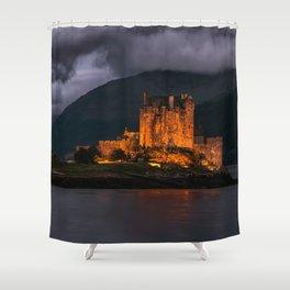 Golden Castle Shower Curtain