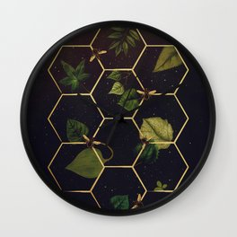 Bees in Space Wall Clock