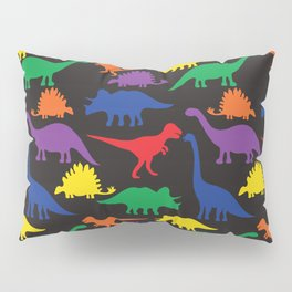 Dinosaurs - Black Pillow Sham