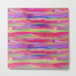 Watercolor Abstract Warm Metal Print