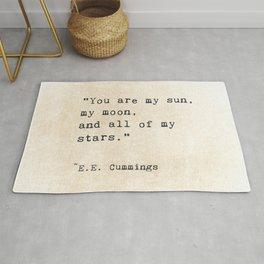 EE Cummings, Sun Moon Stars Quote, Love Rug