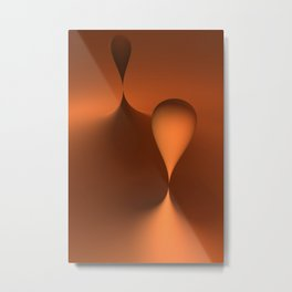 the color orange Metal Print