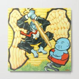 Mike v. Buddha Metal Print