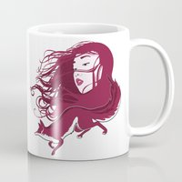 kitsune Mugs featuring Kitsune by Stevyn Llewellyn