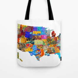 USA Map Tote Bag