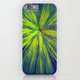 Green yellow splash iPhone Case