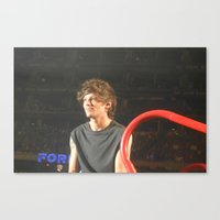 louis tomlinson Canvas Prints featuring Louis Tomlinson by Halle