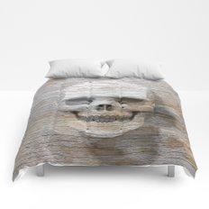 Wood Skull 03 Comforters