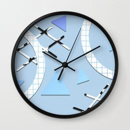 Young Volcanoes - Geometric Pattern 005 Wall Clock