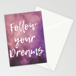 Follow Your Dreams Sky Stationery Cards