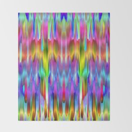 Colorful digital art splashing G488 Throw Blanket