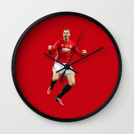 Ibrahimovic Celebrats Wall Clock