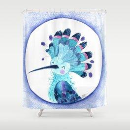 Happy Hoopoe Shower Curtain
