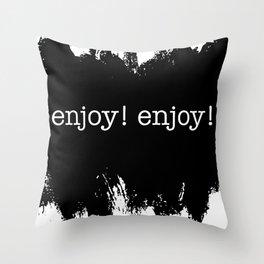 enjoy the puddles Throw Pillow