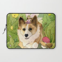 The Faerie and the Welsh Corgi Laptop Sleeve