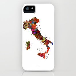 Italy Map iPhone Case