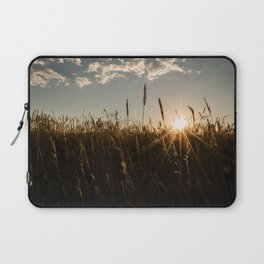 Wyoming Wheat Field Sunset Laptop Sleeve