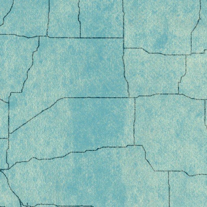 South Dakota State Map Blue Vintage Leggings